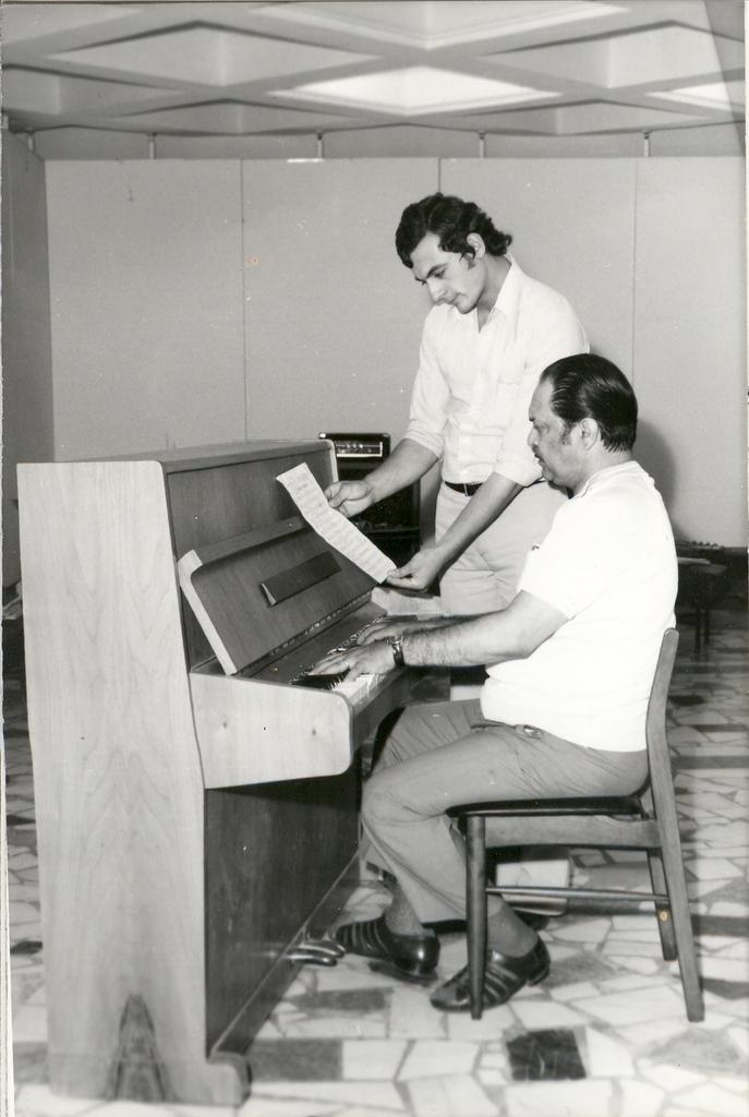 Sile Dinicu la repetitii 1974.jpg