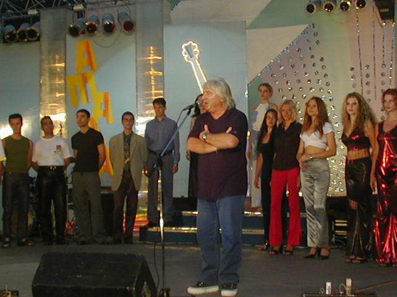 Amara 2001 - Titus Andrei si castigatorii.JPG